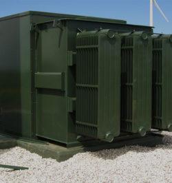 green three phase pad mount